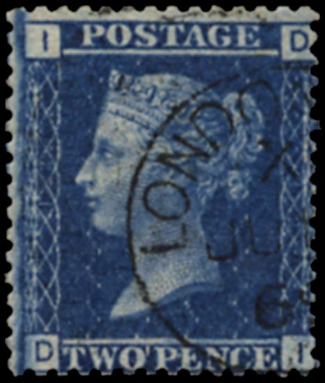 GB 1868  SG45 Pl.12 Used Superb London cds