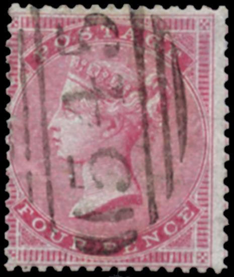 GB 1856  SG63 Used VFU (Medium garter) example