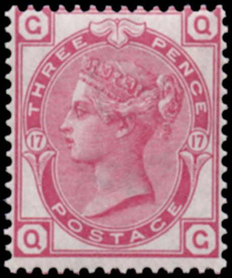 GB 1875  SG143 Pl.17 Mint superb unmounted o.g.