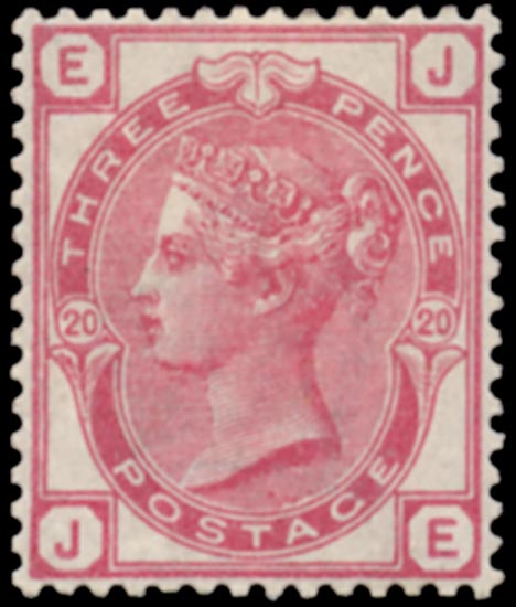 GB 1881  SG158 Pl.20 Mint unused o.g. (JE)