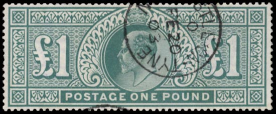 GB 1902  SG266 Used Newcastle cds example