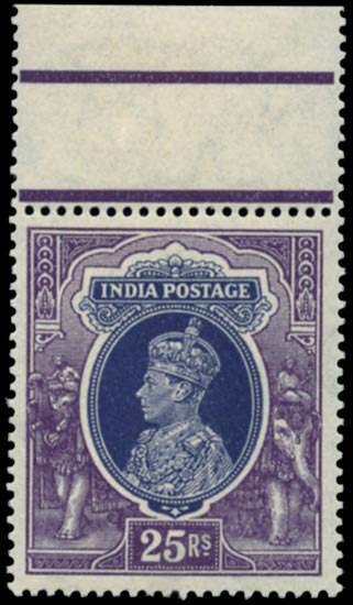 INDIA 1937  SG264 Mint KGVI 25r slate-violet and purple unmounted