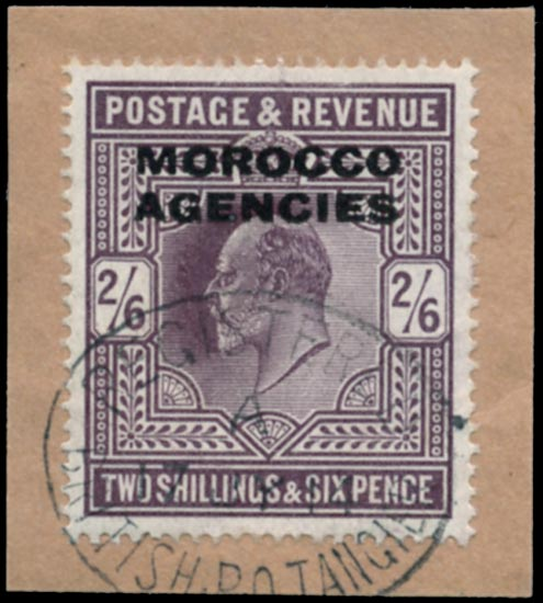 MOROCCO AGENCIES 1907  SG41 Used Somerset House 2s6d dull reddish purple