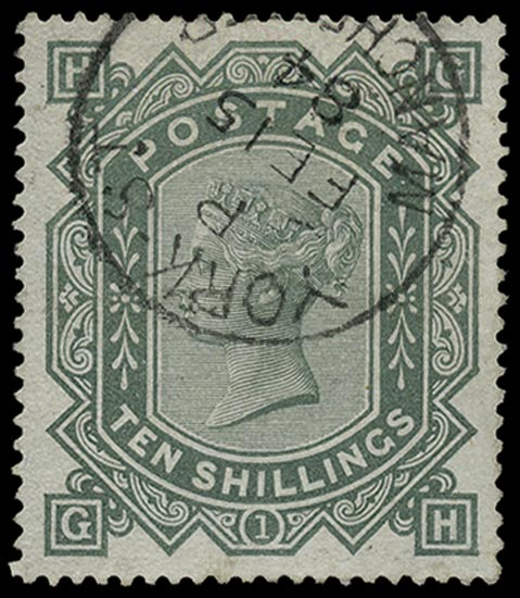 GB 1883  SG135 Used Superb York St. Manchester cds