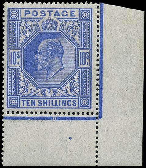 GB 1912  SG319 Mint U/M o.g. corner marginal
