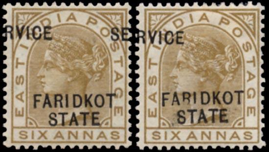 I.C.S. FARIDKOT 1887  SGO11var Official