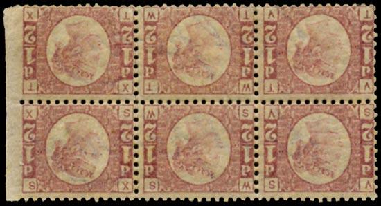GB 1840  SG48 Pl.8 Mint SG48 1870 ½d Rose red Pl.8 (Wmk. Inverted & reversed)