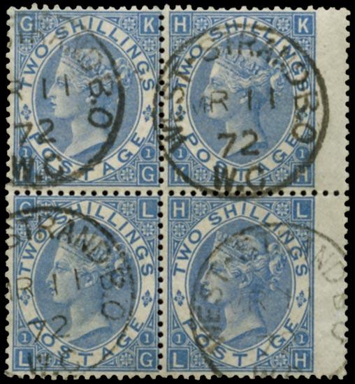 GB 1867  SG118 Pl.1 Used West Strand B.O. cds