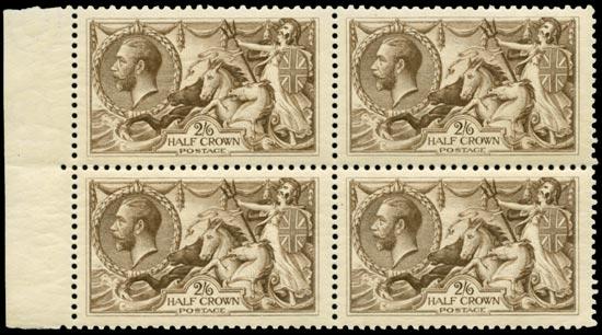 GB 1918  SG415a Mint unused o.g. block of four