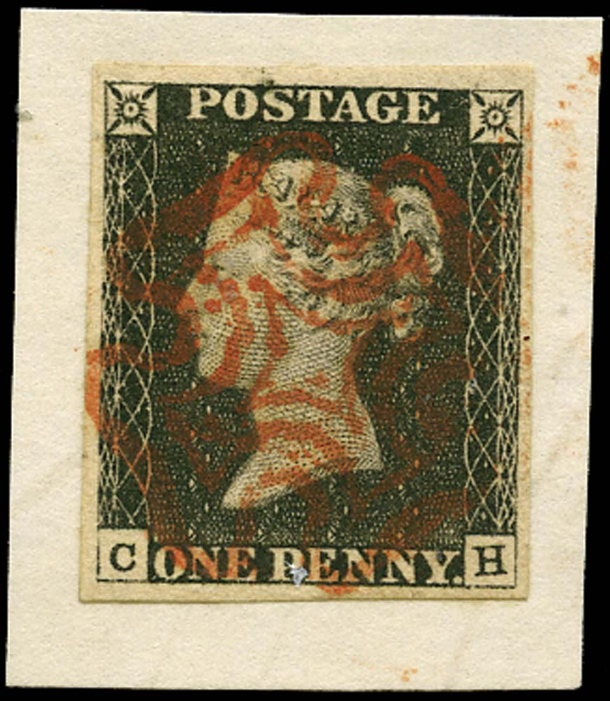GB 1841  SG2 Pl.3 Penny Black