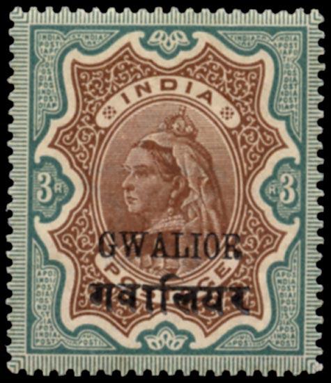 I.C.S. GWALIOR 1899  SG44 Mint