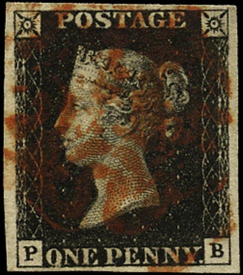 GB 1840  SG2 Pl.9 Penny Black