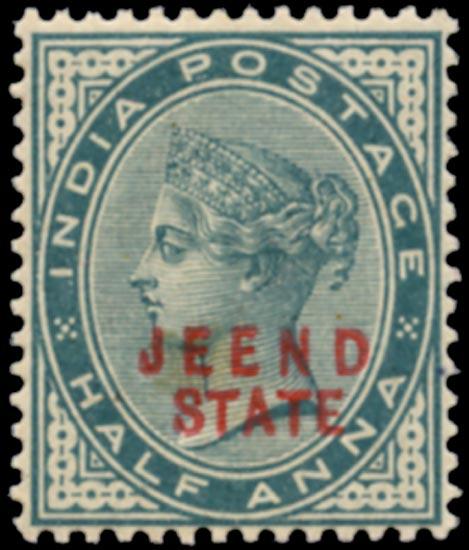 I.C.S. JIND 1885  SG7 Mint