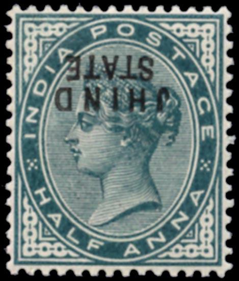 I.C.S. JIND 1886  SG17a Mint