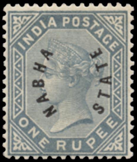 I.C.S. NABHA 1885  SG6 Mint