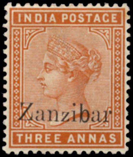 ZANZIBAR 1895  SG10D var Mint