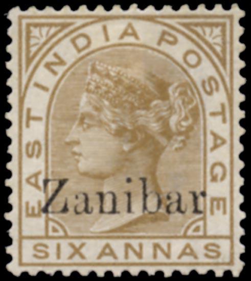 ZANZIBAR 1895  SG13k Mint