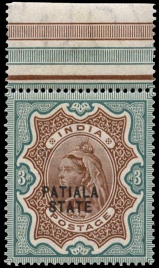 I.C.S. PATIALA 1891  SG30b Mint