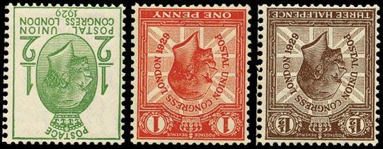 GB 1929  SG434/6wi Mint