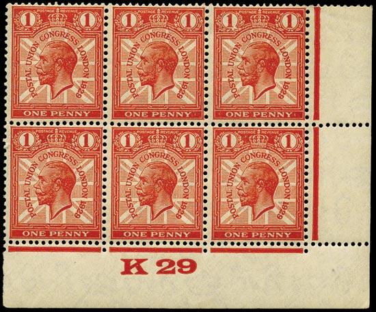 GB 1929  SG435var Pl.4 Mint
