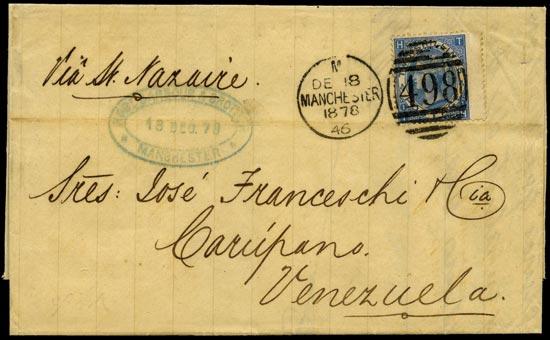 GB 1878  SG118 Pl.1 Cover