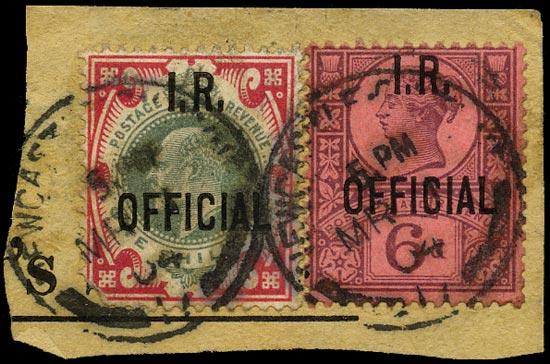 GB 1901-02  SGO18,O24 Official
