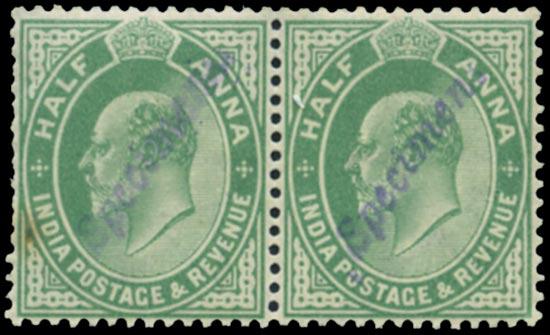INDIA 1906  SG149 Specimen