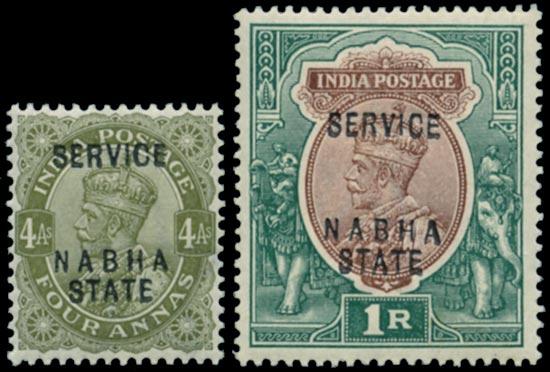 I.C.S. NABHA 1913  SGO37/8 Official