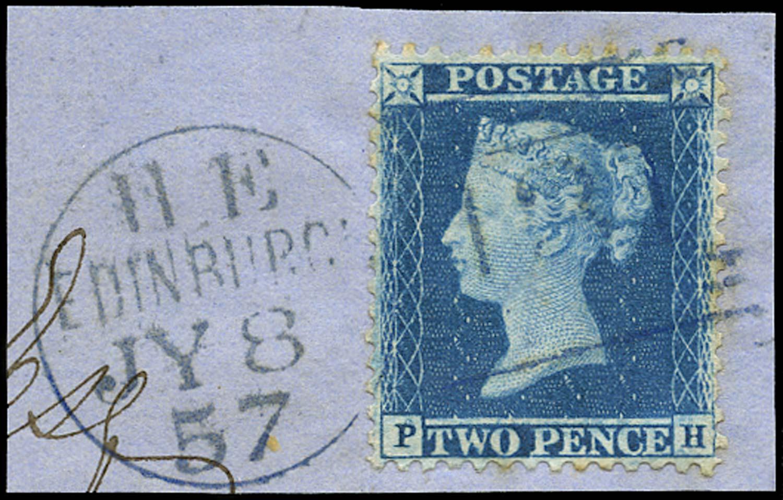 GB 1857  SG35 Pl.6 Used blue Edinburgh