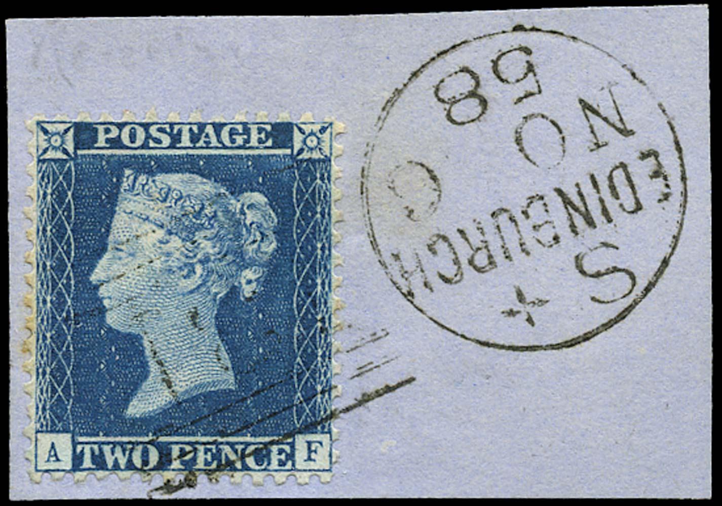 GB 1857  SG35var Pl.6 Used blue Edinburgh