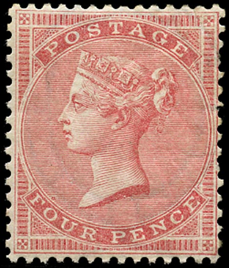 GB 1857  SG66a Mint unused o.g. example