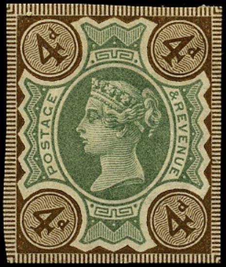 GB 1887  SG205var Mint imperforate imprimatur
