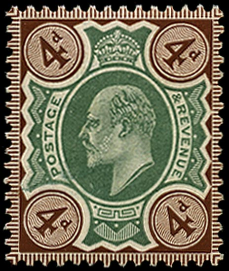 GB 1906  SG236a Mint U/M o.g. example