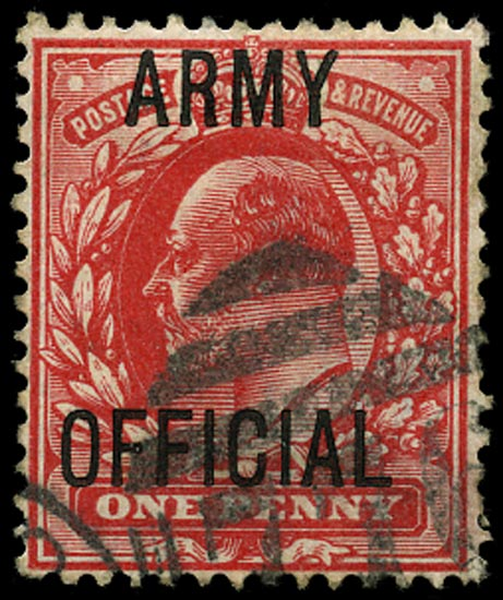 GB 1902  SGO49var Official (Army Official) Splayed