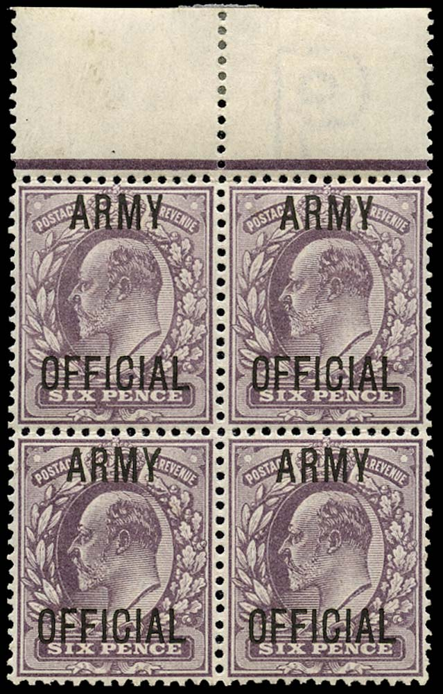 GB 1902  SGO50 Official (Army Official) Splayed
