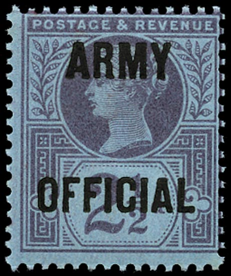 GB 1896  SGO44 Official (Army Official) U/M example