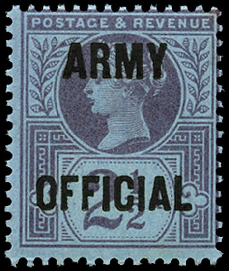 GB 1896  SGO44 Official (Army Official) M/M example