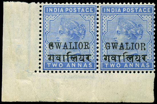 I.C.S. GWALIOR 1885  SG22c/cc Mint