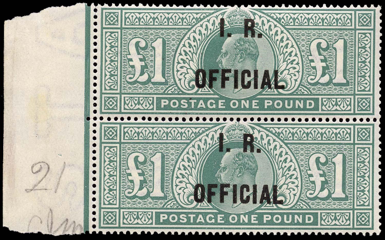 GB 1902  SGO27 Official (I.R. Official) U/M vertical pair