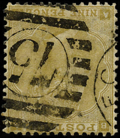 GB 1862  SG87wk Pl.2 Used - Wmk. Inverted and reversed