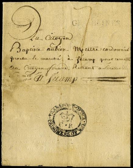 GB 1799 Pre-Stamp - Prisoner of War mail