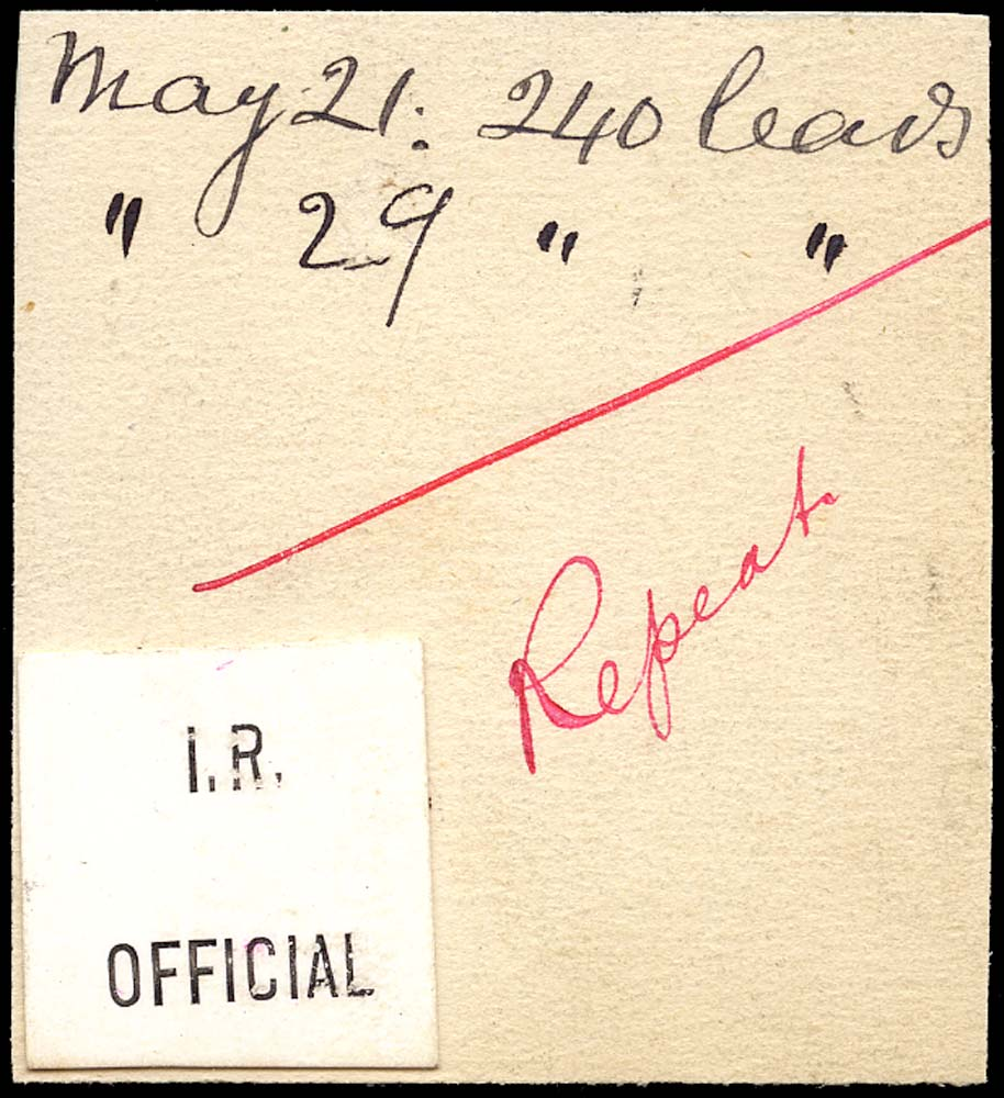 GB 1897 Official I.R. Official (Type L1)