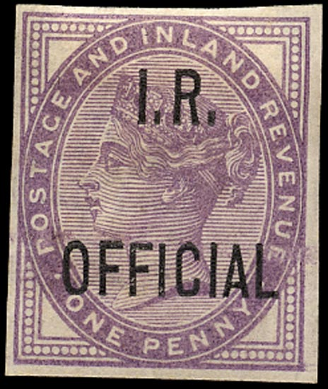 GB 1882  SGO3ca Official imperforate example