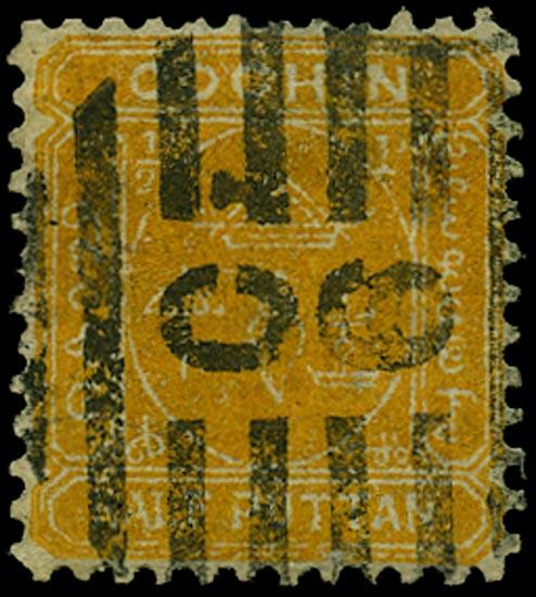 I.F.S. COCHIN 1893  SG4 Used
