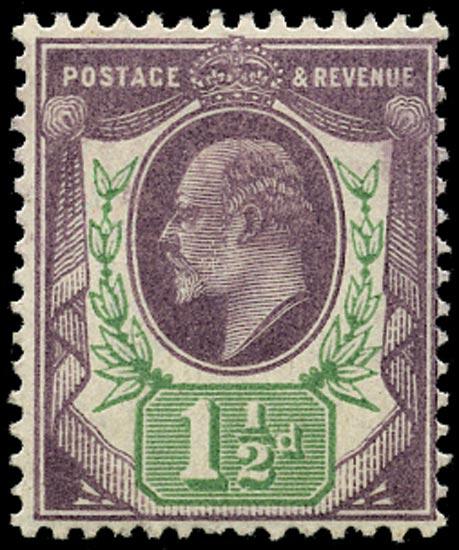GB 1902  SG221 Mint