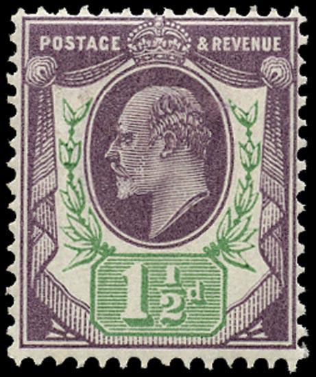 GB 1902  SG222 Mint