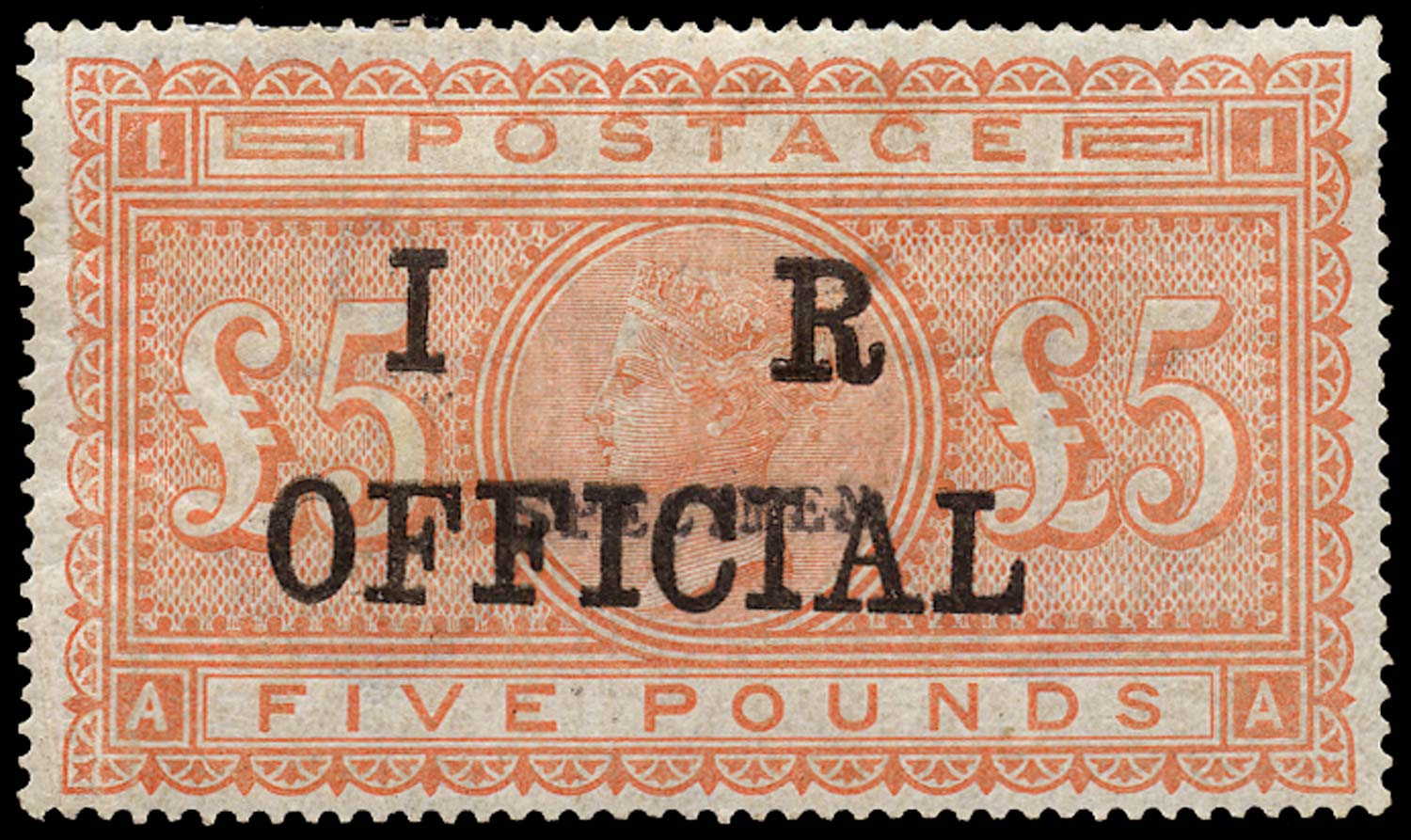GB 1882  SG133var Official overprint essay
