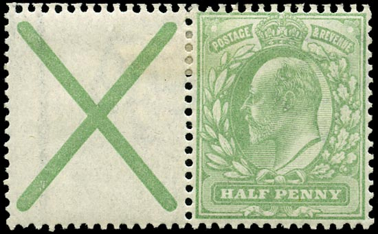 GB 1904  SG217aw Mint with St. Andrews cross label