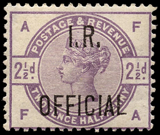 GB 1885  SGO6 Official Unused example (FA)