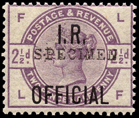 GB 1885  SGO6s Official U/M example